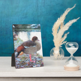 Duck Lake Oil Paintig Photo Plaque