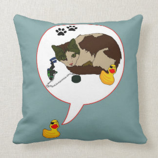 """Duck Lovers, """"Duckie Says!"""" Throw Pillow"""