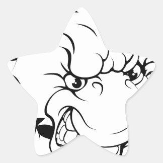 Duck mascot breaking through wall star stickers