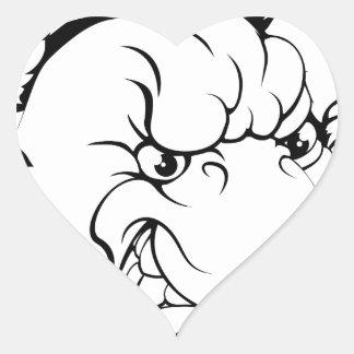 Duck mascot breaking through wall heart stickers