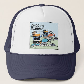 Duck Motorbike Riders Funny Cap