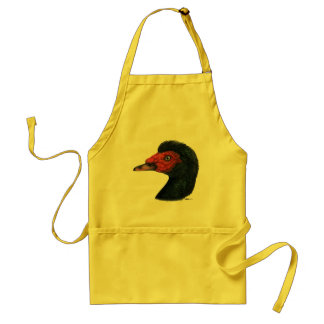 Duck:  Muscovy Head Adult Apron