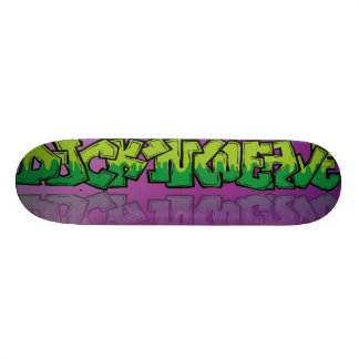 Duck,n Weave with street art style graphic. Skateboard Deck
