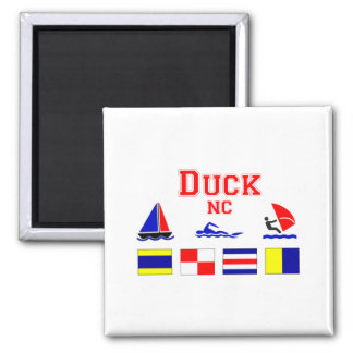 Duck, NC Signal Flags 2 Inch Square Magnet