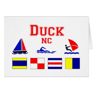 Duck, NC Signal Flags Greeting Card
