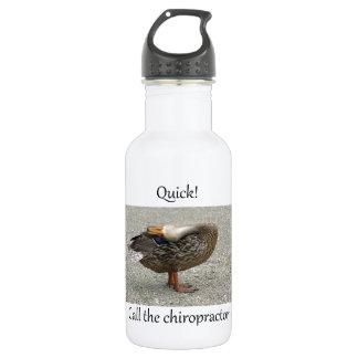 Duck Needs Chiropractor 18oz Water Bottle