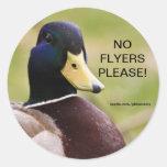 Duck No Flyers Please Sticker