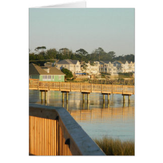 Duck North Carolina Boardwalk and Sound Greeting Card