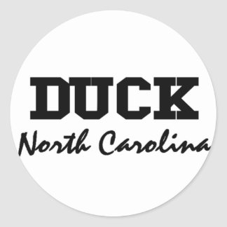 Duck North Carolina Classic Round Sticker