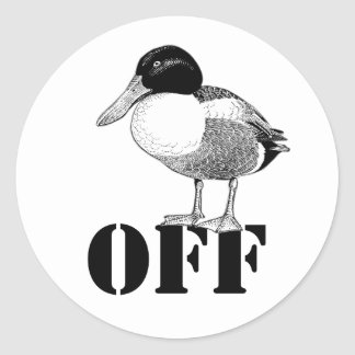 Duck Off Sticker