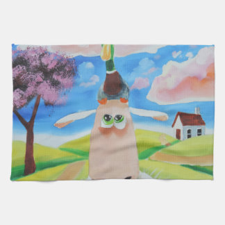 Duck on a sheep's head kitchen towel