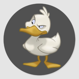 Duck on a Sticker