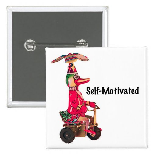 Duck on a Trike 2 Inch Square Button
