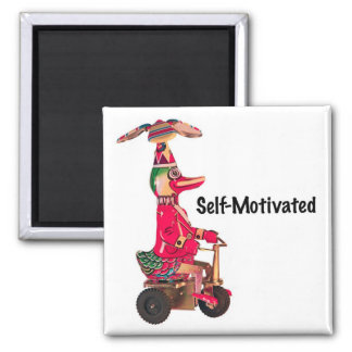 Duck on a Trike 2 Inch Square Magnet