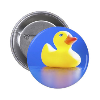 Duck on Blue Button