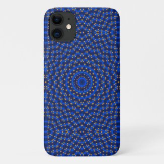Duck on blue kaleidoscope... iPhone 11 case