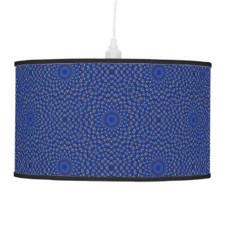 Duck on blue kaleidoscope ceiling lamp