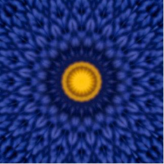 Duck on blue kaleidoscope... cutout
