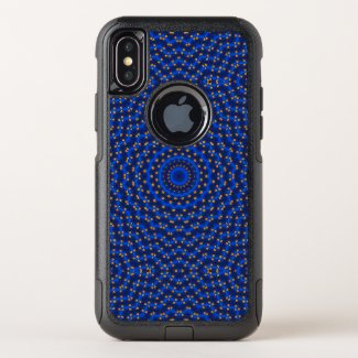 Duck on blue kaleidoscope - OtterBox commuter iPhone x case