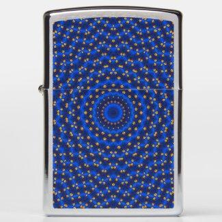 Duck on blue kaleidoscope Small...