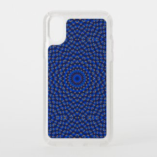 Duck on blue kaleidoscope - speck iPhone x case