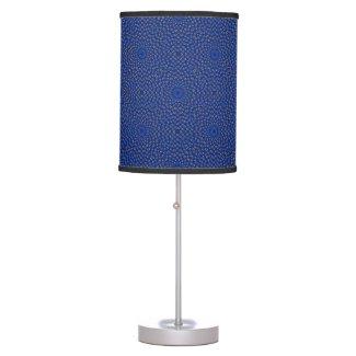 Duck on blue kaleidoscope table lamp