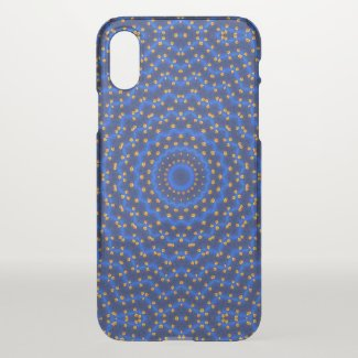 Duck on blue kaleidoscope - iPhone x case