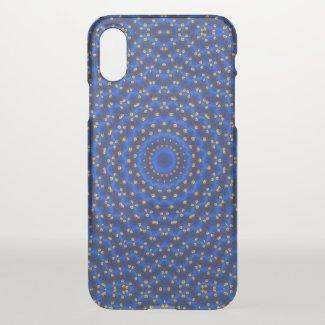 Duck on blue kaleidoscope - iPhone x case