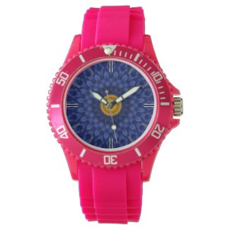 Duck on blue kaleidoscope... wristwatch