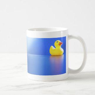 Duck on Blue Mugs