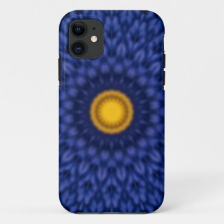Duck on blue with yellow kaleidoscope iPhone 11 case
