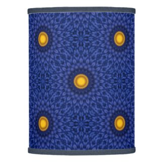 Duck on blue with yellow kaleidoscope lamp shade