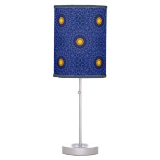 Duck on blue with yellow kaleidoscope table lamp