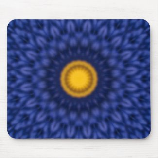 Duck on blue with yellow mouse pad