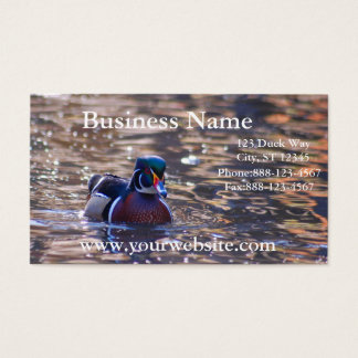 Duck on Pond Business Card