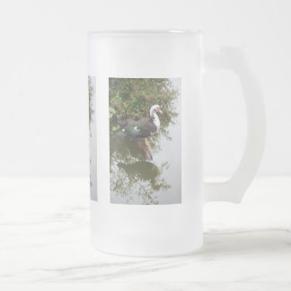 Duck on Pond 16 Oz Frosted Glass Beer Mug