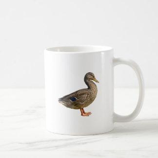 duck on rock at lake coffee mug