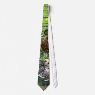 Duck on Rocks Neck Tie