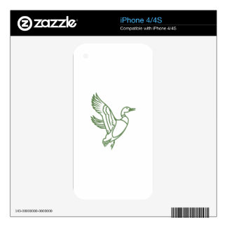 Duck Outline iPhone 4S Decals