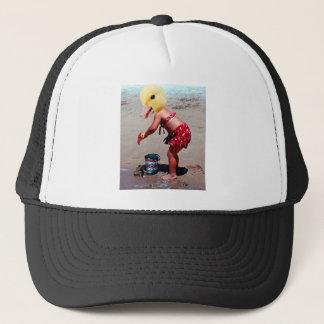 Duck outta water trucker hat