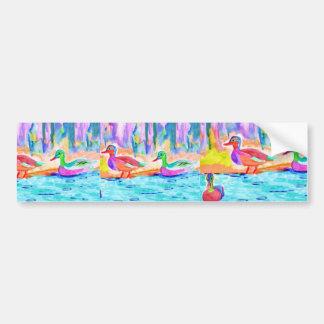 Duck Painting Car Bumper Sticker