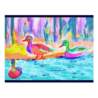 Duck Painting Postcard