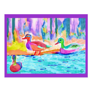 duck painting Postcards
