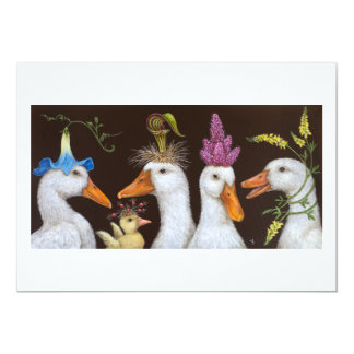 Duck party flat card
