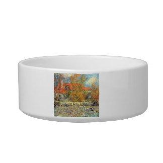Duck pond by Pierre Renoir Cat Water Bowls
