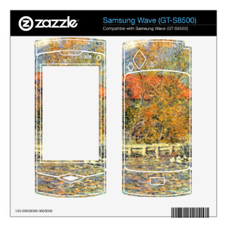 Duck pond by Pierre Renoir Decal For Samsung Wave