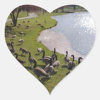 Duck Pond.jpg Heart Sticker