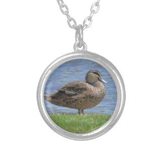 Duck Pond Round Pendant Necklace