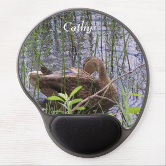 Duck Preening in the Reeds Gel Mouse Pad