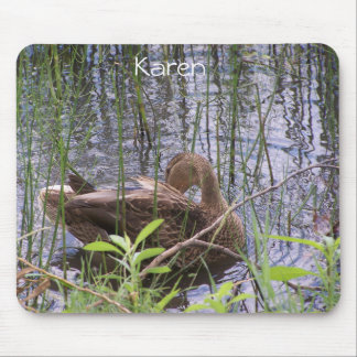 Duck Preening in the Reeds Mouse Pad